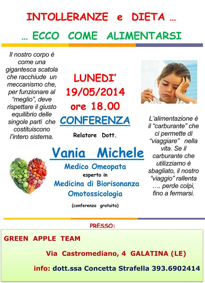 Intolleranze e Alimentazione Green Apple Team