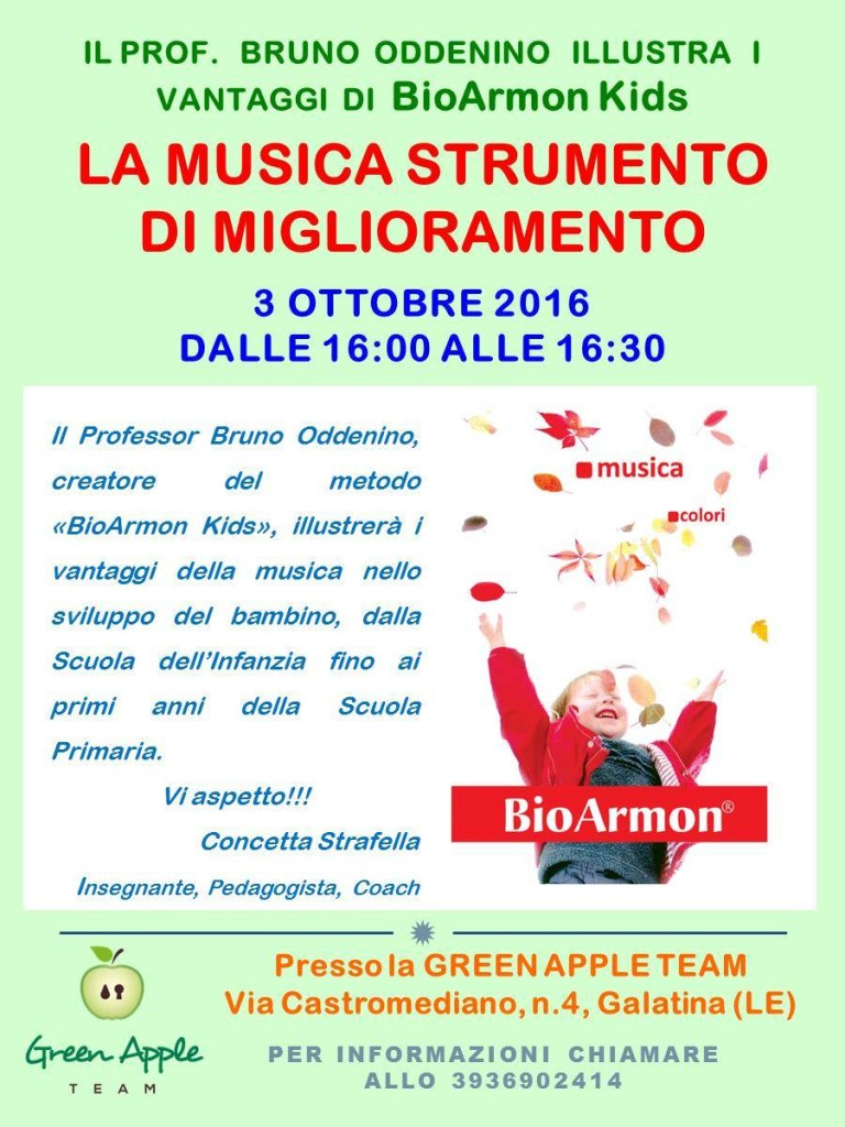 bioarmon-green-apple-team-locandina